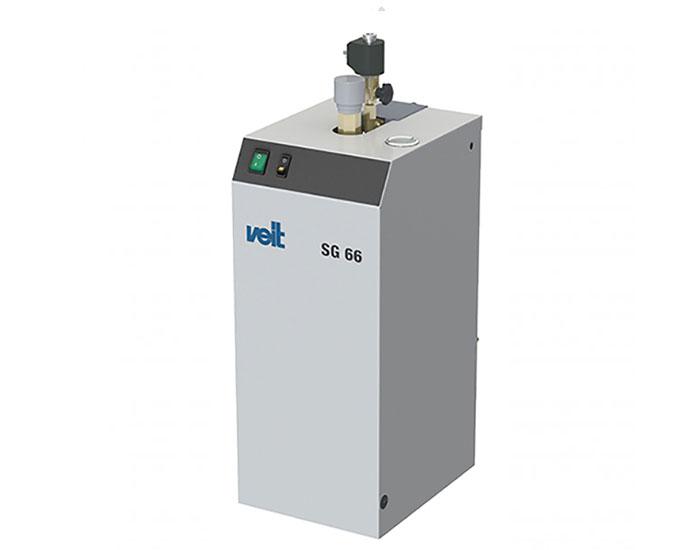 Högtryckspannor från Veit för 1 eller 2 järn, med manuell eller automatisk påfyllning av vatten, både för kontinuerlig drift och för sporadisk användning.